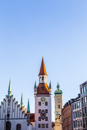 MUNICH, GERMANY - DECEMBER 27, 2013: The old town hall architecture in Munich, Germany. The Old Town Hallserved  until 1874 as the domicile of the municipality.