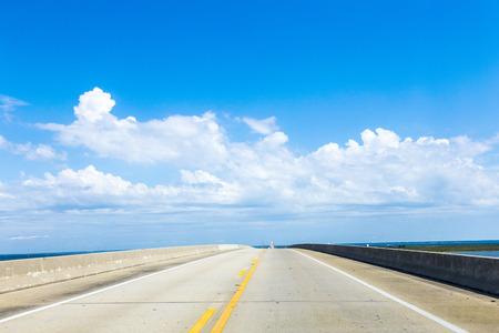 crossing the Dauphin Island Bridge in Dauphin Island, USA photo