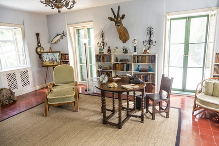 ernest: KEY WEST, USA - AUG 27, 2014: working room of Ernest Hemmingway in Key West, USA. Ernest Hemingway lived and wrote here from 1931 to 1939.