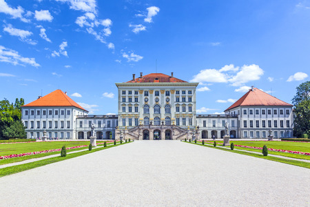 nymphenburg palace: facade of nymphenburg castle, Munich Editorial