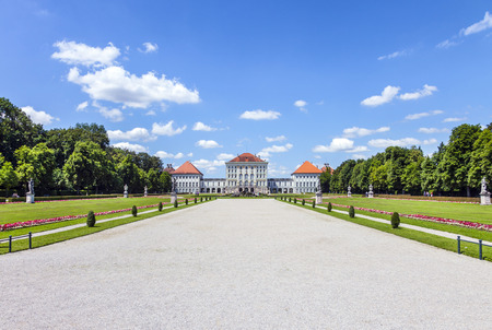 summer residence: Munich, Germany - July 8, 2011: Schloss Nymphenburg, a Baroque palace in Munich, Bavaria. The palace was the main summer residence of the rulers of Bavaria.