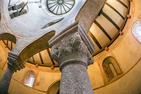 church of the holy sepulchre: FULDA, GERMANY - SEP 20, 2014:  St. Michaels Church in Fulda, Germany. It is considered to be the oldest Holy Sepulchre church in Germany, built in the Carolingian architectural style.