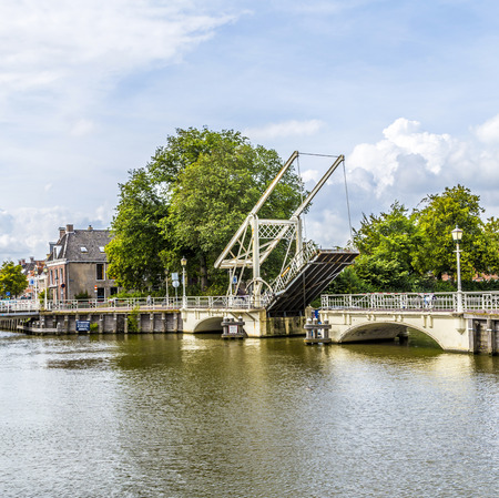 draw bridge: draw bridge in Harlingen Stock Photo