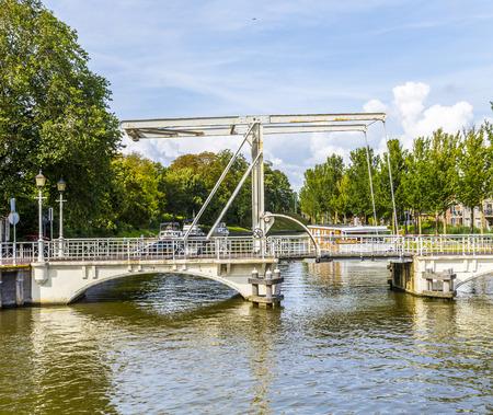 draw bridge: draw bridge in Harlingen, Netherlands Stock Photo