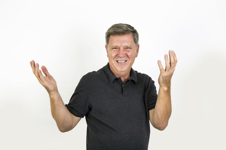 happy laughing and smiling senior man photo