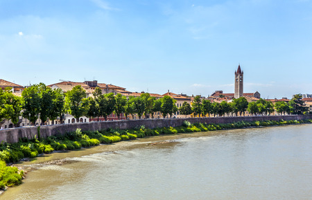 view to Verona with river Adige photo