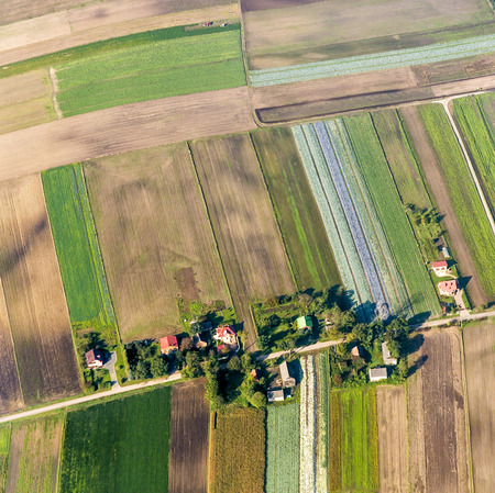 aerial of polish farmland near Krakow photo