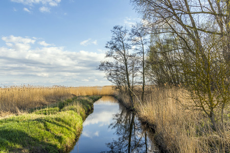 living idyll: Achterwasser in Usedom at the baltic sea