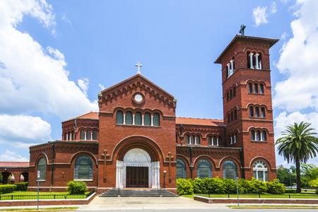 immaculate: la famosa catedral de la Inmaculada Concepci�n en Lake Charles Foto de archivo
