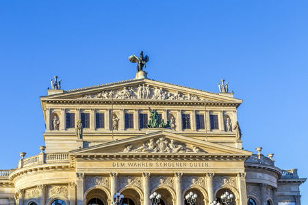 alte: Alte Oper Old Opera House in Frankfurt am Main Germany Editorial