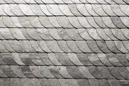 dark slate gray: slate shindles of an old historic house