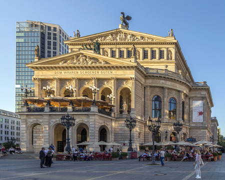 FRANKFURT - SEPT 5: Alte Oper in Frankfurt, Germany. Alte Oper is a concert hall built in the 1970s on the site of and resembling the old Opera House destroyed in WWII.