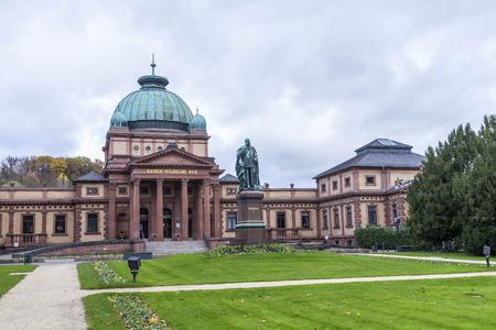 kaiser: Kaiser Wilhelm Bad in Bad Homburg under cloudy sky