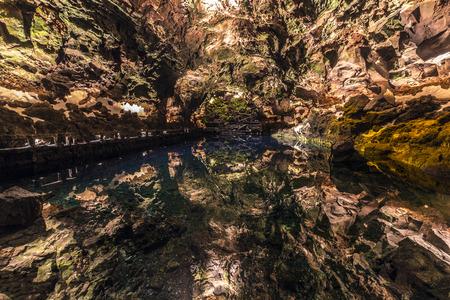 cave Jameos del Agua, Lanzarote, Canary Islands, Spain