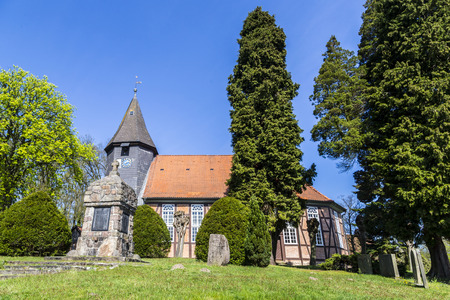 famous: famous old church in Osterheide Stock Photo