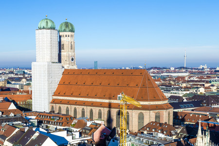 church of our lady in Munich in beautiful weather photo