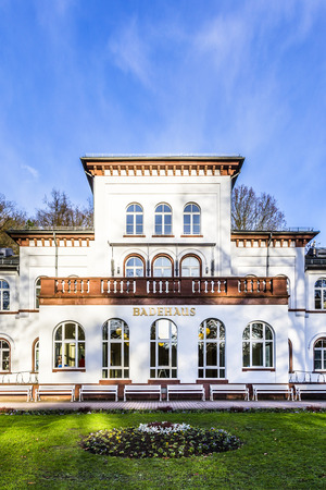 bathhouse: historic Kurhaus with scenic park in Bad Soden
