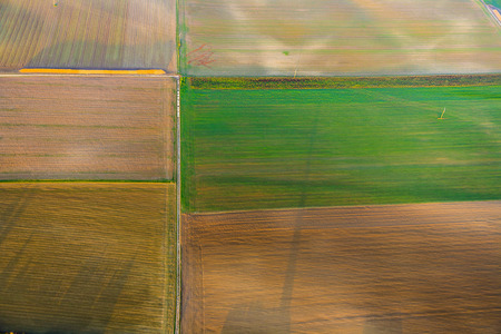 acre: rural landscape with acre from hot air balloon in Frankfurt