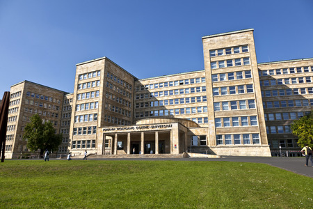 westend: FRANKFURT, GERMANY - SEP 25, 2011: famous IG farben house in Frankfurt Germany. The house was used as headquarter of the US Army, nowadays as University.
