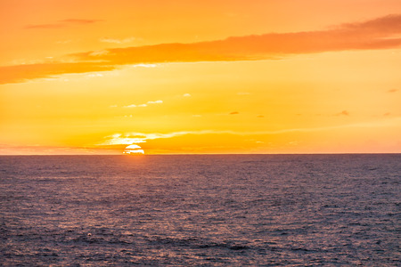 los hervideros: romantic sunset at the coast of Lanzarote at Los Hervideros