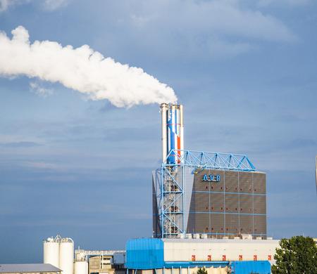 tonnes: ARNHEIM, NETHERLANDS - AUG 14, 2014: waste burning power plant in Arnheim, Netherlands. In 2013 AVR took care of 2.0 million tonnes of Dutch waste.
