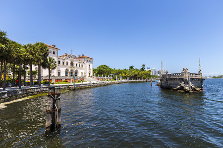 vizcaya: vizcaya Museum in Miami under blue sky Editorial