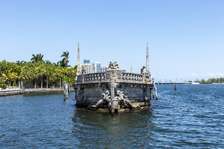 vizcaya: Vizcaya, Floridas grandest residence, once belongs to millionaire industrialist James Deering, is in downtown Miami, Florida, USA. Stock Photo