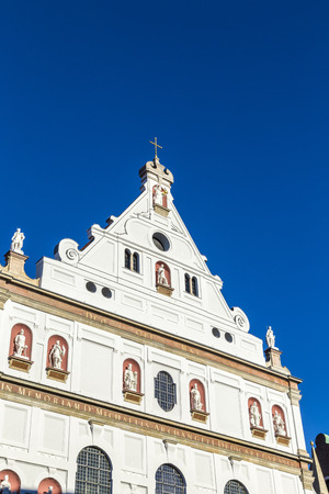 michael: Munich Michael Church under clear blue sky