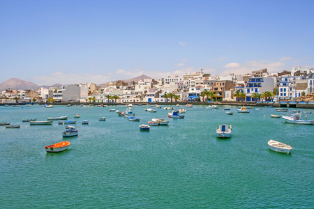 manrique: ARRECIFE, SPAIN - AUG 7, 2006: Charco de San Gines on midday in Arrecife, Spain. The harbor area was remodelled by Canarian architect Caesar Manrique in 1984.