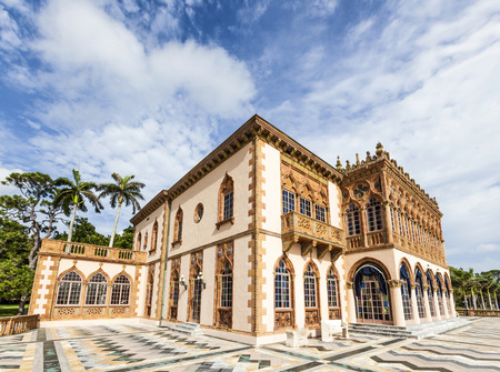 SARASOTA, USA - JULY 25, 2013: Ca d'Zan is an elaborate Venetian-style villa modeled in part after the Doges Palace in Venice in Sarasota, USA. Built by circus magnate John Ringling and his wife Mable. The 56-room house and art museum are open for tourist Editorial