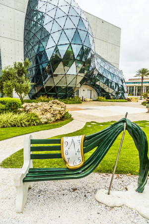 salvador dali: ST. PETERSBURG, USA - JULY 25, 2013: Exterior of Salvador Dali Museum in St. Petersburg, FL, USA. The museum has one of the largest collection of works of Salvador Dali in the world. Editorial