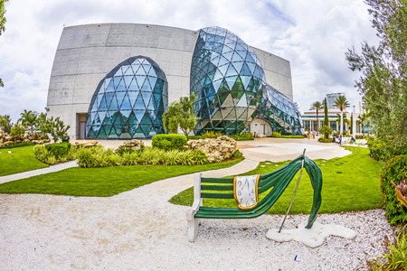 st  pete: ST. PETERSBURG, USA - JULY 25, 2013: Exterior of Salvador Dali Museum in St. Petersburg, FL, USA. The museum has one of the largest collection of works of Salvador Dali in the world. Editorial