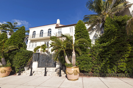 MIAMI, USA - AUG 5, 2013: Versace mansion. In 1997 the world gasped as Gianni Versace was shot to death on the doorstep of his Miami South Beach mansion in Miami, USA.