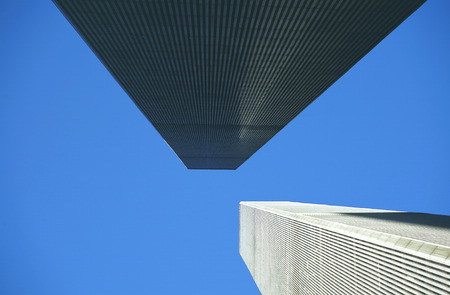 wtc: NEW YORK, USA - NOV 26, 1998: view of facade of world trade center on a sunny day in New York, USA.
