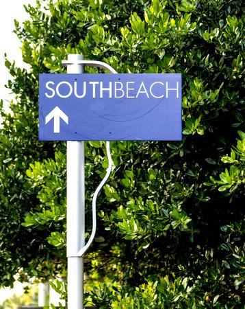 south beach: south beach street sign in Miami Beach