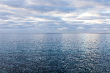harmonic: ocean with morning clouds gives a harmonic pattern in Lanzarote