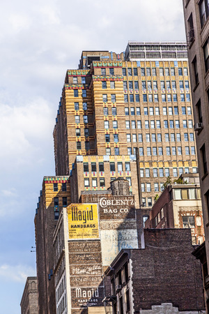 old new york: NEW YORK, USA - JUL 11, 2010: high old brick skyscraper in new York, USA. In 1950 New York had 87 brick sSkyscraper with more than 400 feet high from 160 skyscraper worldwide. Editorial