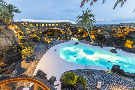 lanzarote: cave Jameos del Agua, Lanzarote, Canary Islands, Spain