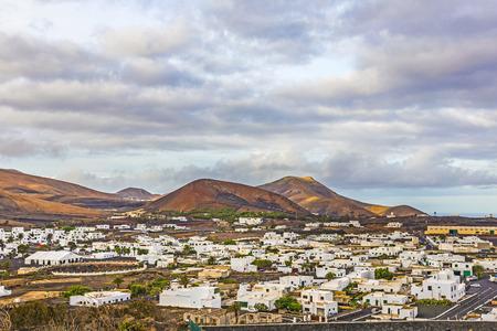 lanzarote: picturesque village of Uga in sunrise, Spain, Lanzarote