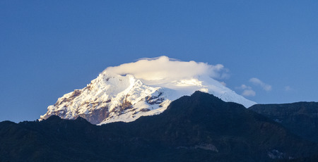 snow capped: snow capped Antisana Vocano, Ecuador