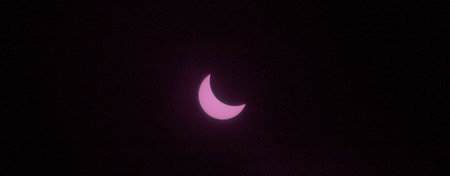 eclipse: partial sun eclipse on MARCH 20, 2015 in Germany Stock Photo