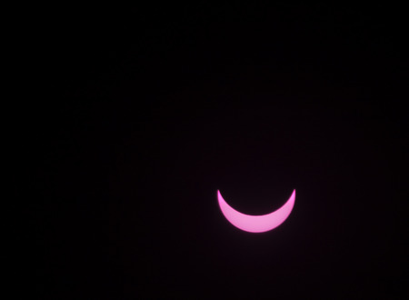 partial: partial sun eclipse on MARCH 20, 2015 in Germany Stock Photo
