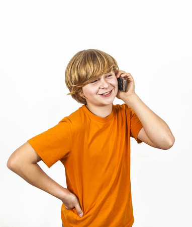 speaks: boy is using the mobile and speaks