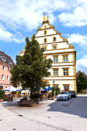 ludwig: MARKTBREIT, GERMANY - JULY 7, 2011: Seinsheim castle in medieval town of Marktbreit, Germany. Marktbreit. Georg Ludwig von Seinsheim built the castle in 1580.