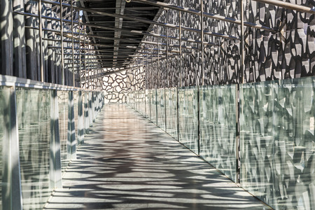 european culture: MARSEILLE, FRANCE - APR 5, 2015 : Museum of European and Mediterranean Civilizations. MuCEM was inaugurated on 7 June 2013 when Marseille was designated as the European Capital of Culture.