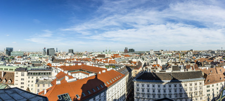 Panoramic view of Vienna city on daytime in Austria photo