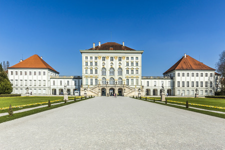 nymphenburg palace: people at Nymphenburg Palace, the summer residence of the Bavarian kings