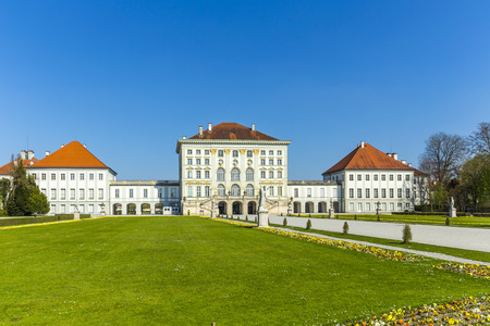 nymphenburg palace: Nymphenburg castle grounds in Munich, Germany Editorial
