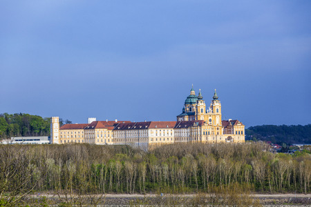 convent: scenic Convent Melk at river Danube in Lower Austria