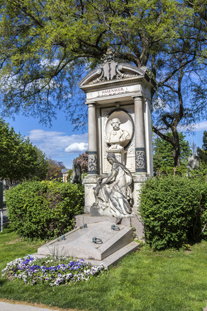 carl: Last Resting Place of architect Carl Hasenauer at the Vienna Central Cemetery.Hasenauer died in 1894.